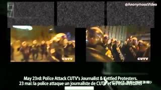 Anonymous Québec « Police   Violence » OFFICIEL