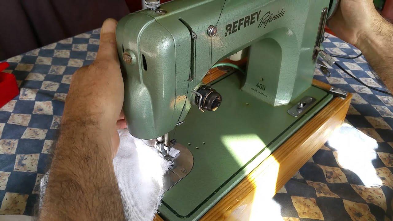 Máquina de coser refrey - YouTube