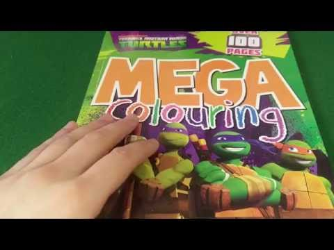ASMR Pencil Crayons Coloring Book Teenage Mutant Ninja Turtles
