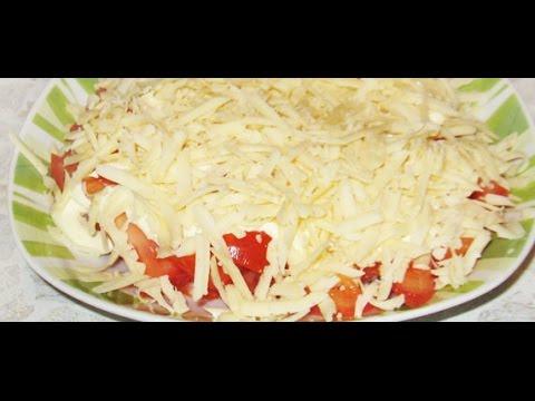 ПРОСТОЙ салат из помидор и сыра.