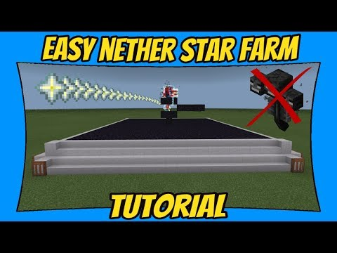 How To Build A Nether Star Farm [Minecraft Bedrock Edition]