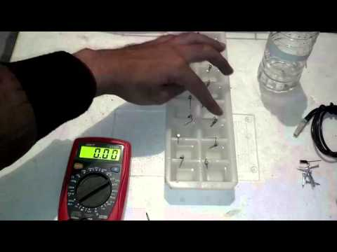 How To Make Electricity | How To Make Salt Water Battery (Urdu/Hindi)