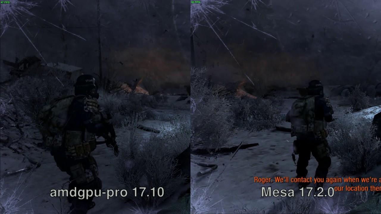 Amdgpu-pro 17 10 vs Mesa 17 2 0