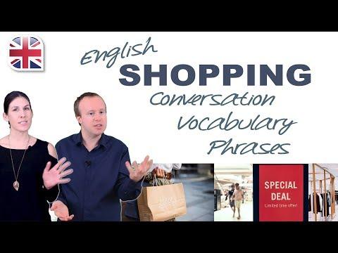 Going Shopping in English - Spoken English for Travel