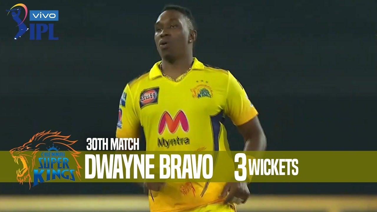 Dwayne Bravo's 3 Wickets Against Mumbai Indians   30th Match   Indian Premier League 2021
