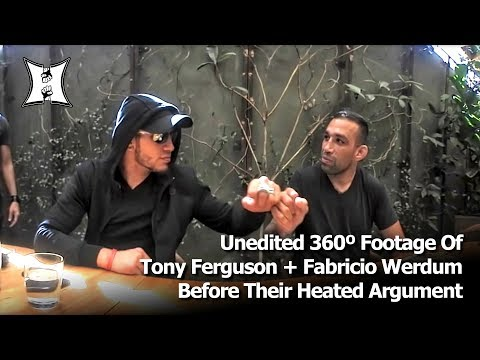 Unedited 360º Footage Of Tony Ferguson + Fabricio Werdum Before Argument At UFC 216 Media Lunch