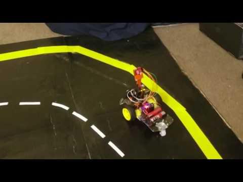 Autonomous RC Car OpenMV (Lanes + Stop Sign + Traffic Light)