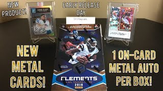 2018 Panini Elements Football Hobby Box Break - New Metal Cards! 3 Hits & $112 Per Box!