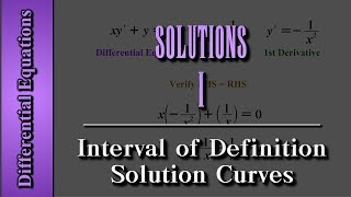 Differential Equations: Solutions (Level 1 of 4) | Interval of Definition, Solution Curves thumbnail