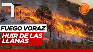 """""""En dos minutos se nos vino el fuego encima"""" dijo el dueño de una cabaña quemada en Lago Azul"""