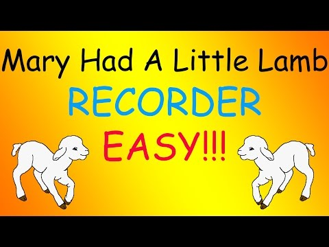 Mary Had a Little Lamb-Recorder (Easy)