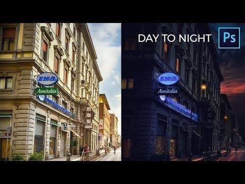 Day To Night Photoshop Tutorial - Arabic Photoshop thumbnail