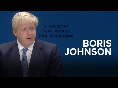 Boris Johnson: Speech to Conservative Party Conference 2016