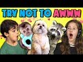 KIDS REACT TO TRY NOT TO AWW CHALLENGE #