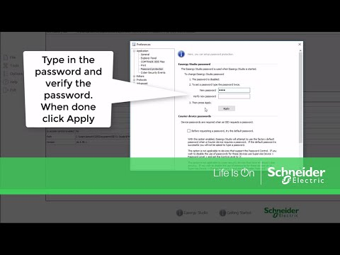 Configuring Password Protection in Easergy Studio | Schneider Electric Support