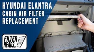 How To Replace Cabin Air Filter Hyundai Elantra