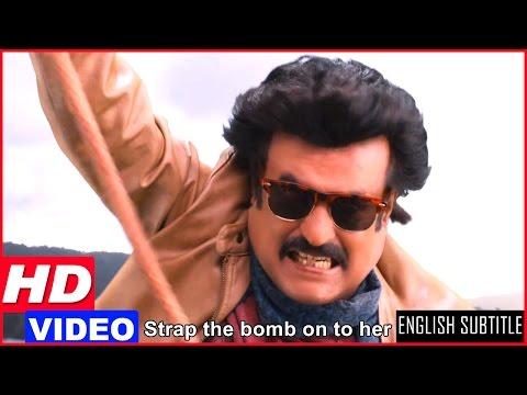 Lingaa Tamil Movie Scenes HD   Rajinikanth Fights Jagapathi Babu In The Air Balloon   Anushka