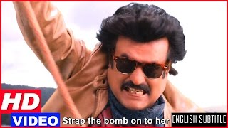 Lingaa Tamil Movie Scenes HD | Rajinikanth fights Jagapathi Babu in the air balloon | Anushka