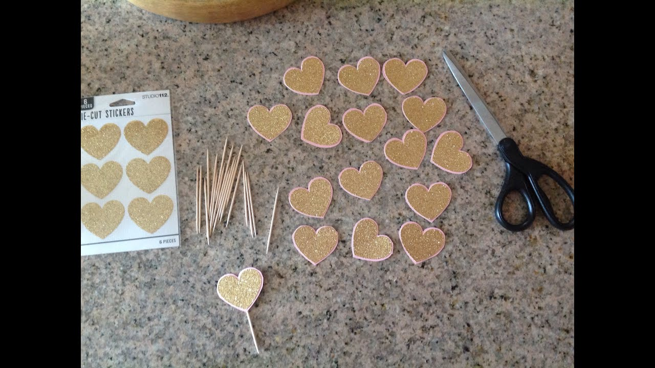 Gold pink 1st party diy projects 1 candle cupcake toppers mini gold pink 1st party diy projects 1 candle cupcake toppers mini haul youtube solutioingenieria Choice Image