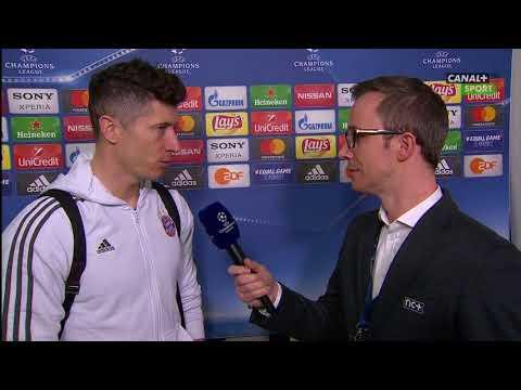 Robert Lewandowski po awansie Bayernu do półfinału LM || Piłka nożna