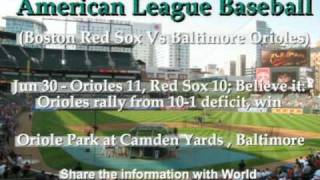 MLB - AL - Boston Red Sox Vs Baltimore Orioles - Part 1