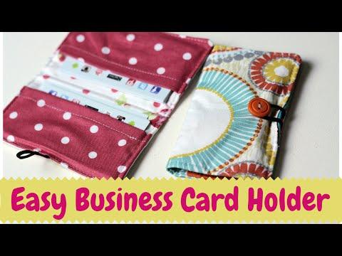 Business Card Holder- DIY Sewing Tutorial
