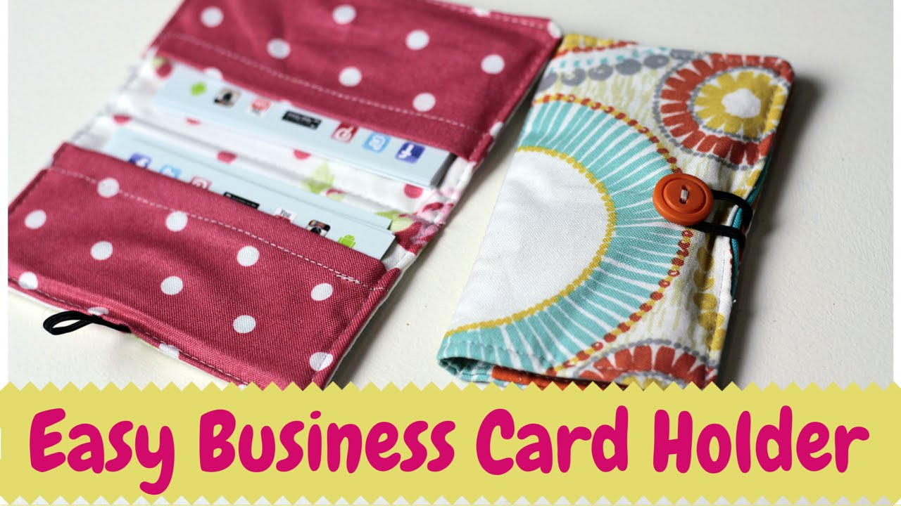 Business Card Holder Diy Sewing Tutorial Youtube