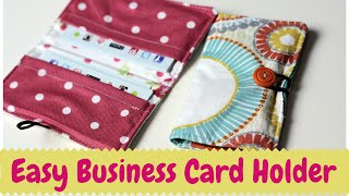 Business Card Holder- DIY Sewing Tutorial