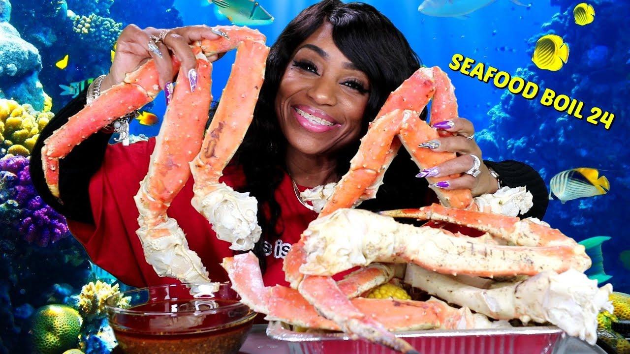 Seafood Boil 24 King Crab, Lobster, Scallops, Tiger Shrimp ...