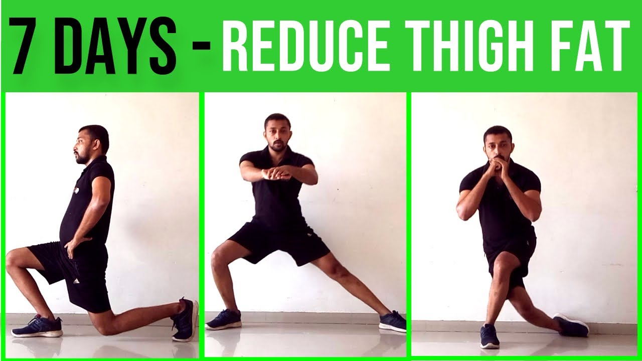 How To Reduce Thigh Fat In 6 Days Exercise At Home  Exercise To Lose Thigh  Fat In 6 Days
