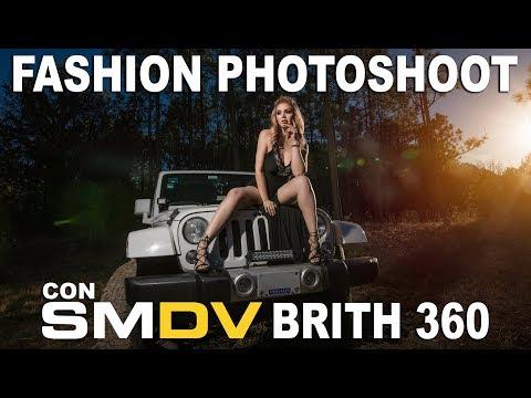 Fashion Photoshoot para Cristina Ramírez con Flash BRiHT 360 en LAS MONTAÑAS