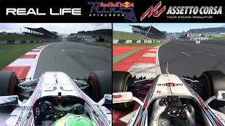 Real Life Vs Assetto Corsa - Red Bull Ring - F1 Williams (Comparison)