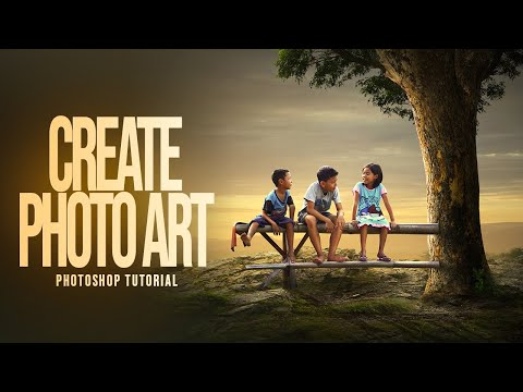 Photoshop Tutorial : How To Create PHOTO ART | Photo Manipulation