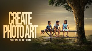Photoshop Tutorial : How To Create PHOTO ART | Photo Manipulation