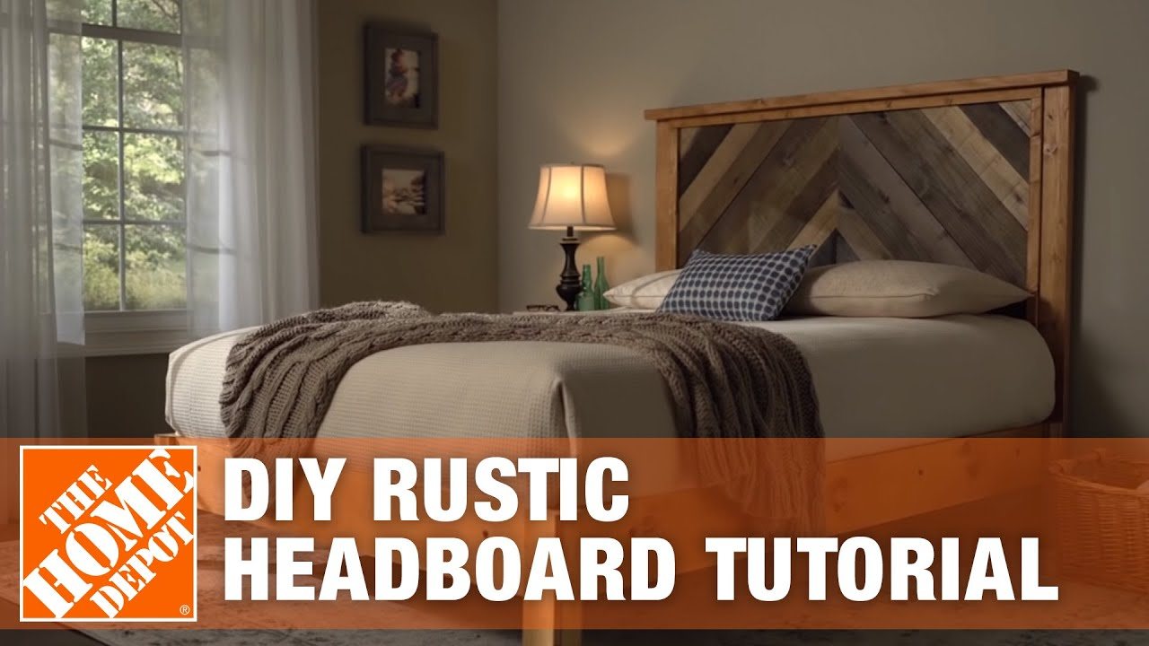 diy headboard rustic headboard tutorial the home depot