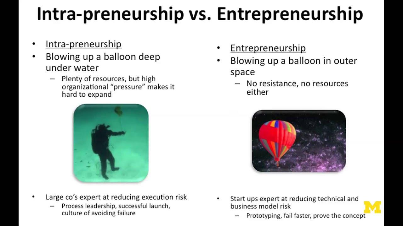 Intrapreneur Vs Entrepreneur