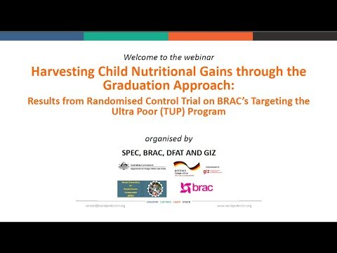 Harvesting Child Nutritional Gains through the Graduation Approach