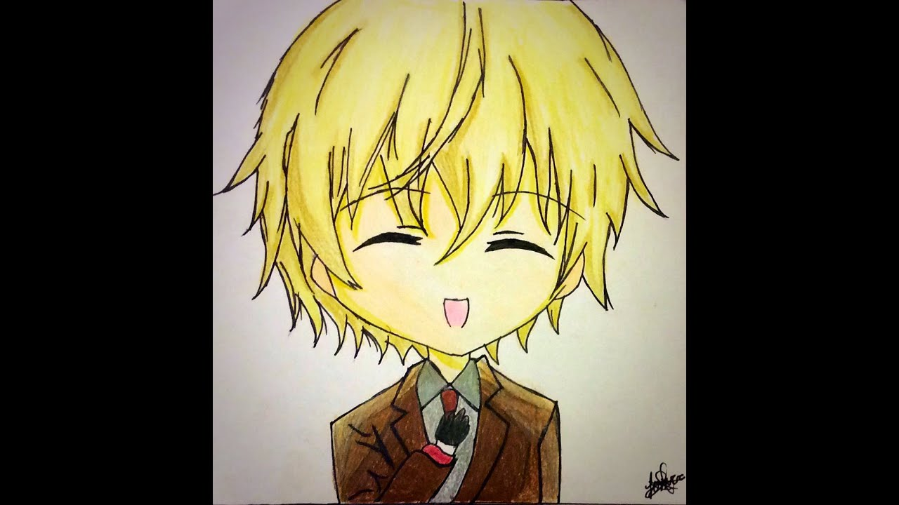 Speed Drawing Random Anime Chibi Boy | Yitsune Melody ...