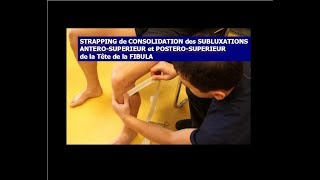 Strapping genou: Subluxations Tête de fibula Antéro/Postéro - supérieures