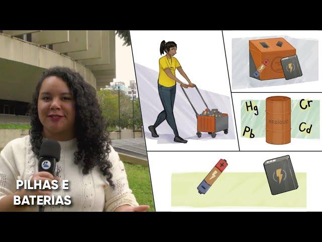 Materiais classificados como perigosos para a saúde e para o meio ambiente, pilhas e baterias devem ser encaminhadas para reciclagem.