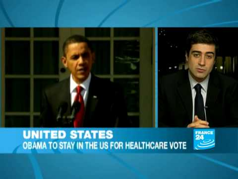 Obama to stay in the US for healthcare vote