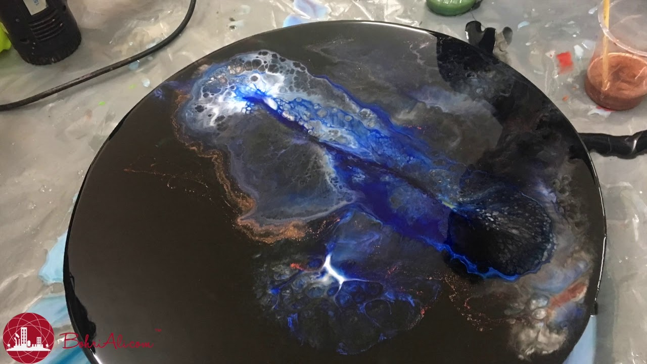 Galaxy Resin Art By Haksons Youtube