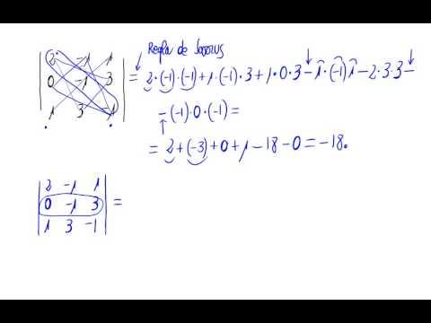 Determinante de orden 3 usando Sarrus