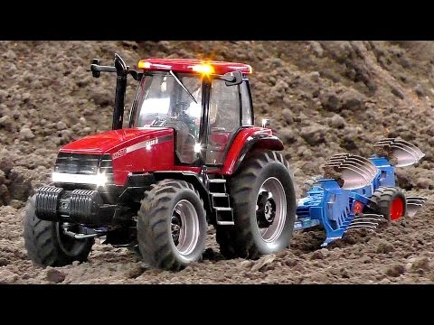 CASE III MX-270 RC SCALE 1:16 MODEL TRACTOR WITH PLOW IN MOTION AMAZING DETAIL MODEL AT WORK