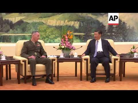 Dunford meets Xi Jinping, comments on military relations