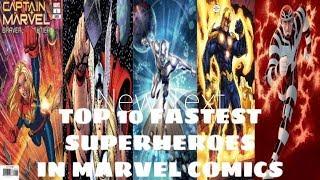 Top 10 fastest superheroes in marvel comics
