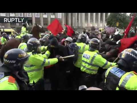 EDL and antifascist protesters clash in Liverpool
