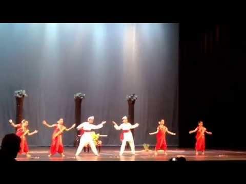 First Prize Winner - Mauli Dance by Team OMM (left to right Sahana, Arya, Om , Aryan, Tanvi, Gargi )