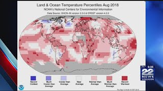 August 2018 one of the hottest on record