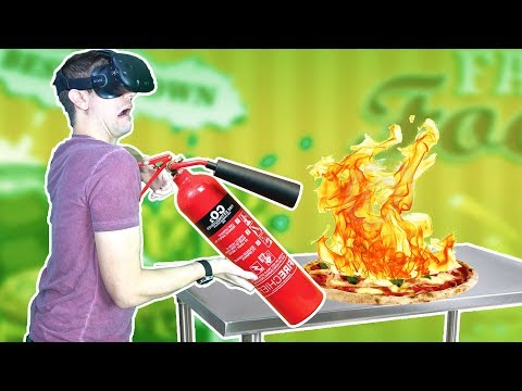 CHEF ACCIDENTALLY SETS FAST FOOD RESTAURANT ON FIRE IN VR! - Order Up VR HTC VIVE Gameplay thumbnail